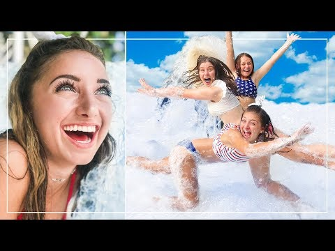 We FiLLED UP our BACK YARD with FOAM! | Behind the Braids Ep.70