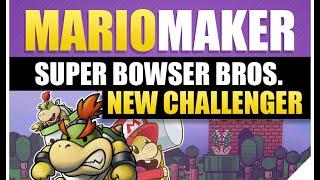 Super Mario Maker Bowser Jr | Super Bowser Bros | Speedrun First Clear | Super Expert Level