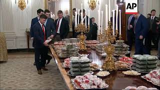 Trump honors Clemson with fast food feast