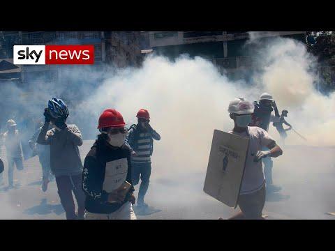 Violent attacks against Myanmar protesters