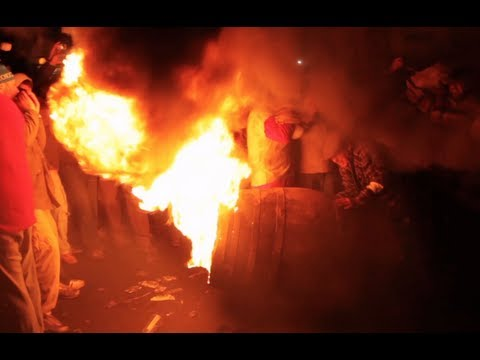 Flaming Tar Barrels of Ottery St. Mary, November 5th 2012