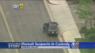 Bizarre Police Pursuit From OC To IE Ends With Driver Fleeing On Foot, Passenger Jumping Into Unwitt
