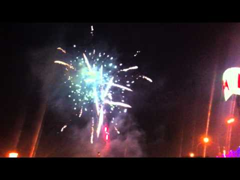 Fireworks over Kharkov, Ukraine