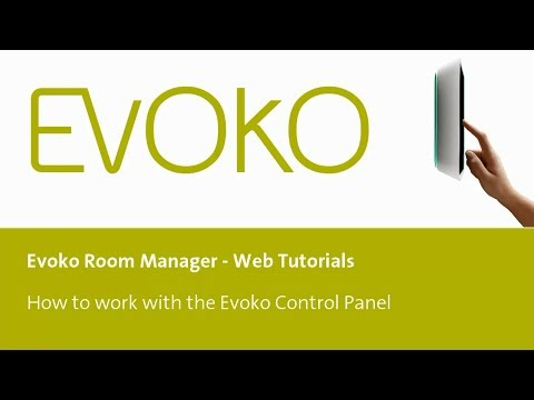How to set up the Evoko Control Panel and export to a USB memory stick