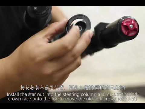 Luna Cycle How to Install Upgraded Sur-Ron tapered Headset