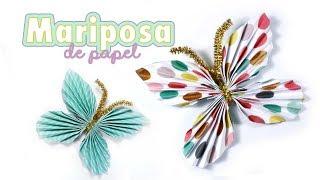 Cómo hacer una mariposa de papel para decorar fácil y rápido