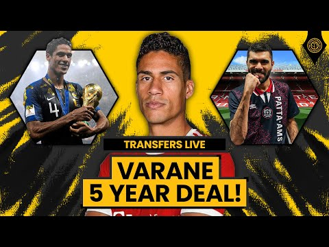 Raphael Varane To Join Man United On 5 Year Deal!   TRANSFERS LIVE