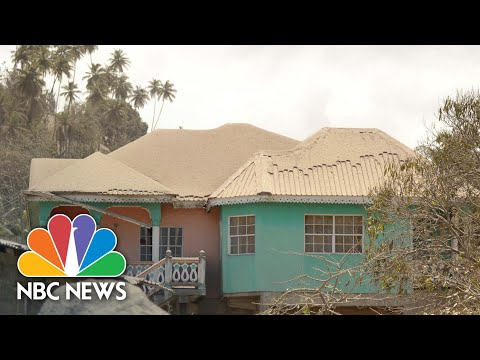 Watch: Ash From La Soufriere Creates Eerie Landscape On St. Vincent   NBC News NOW