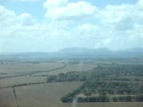 flying over nicaragua