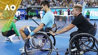 Novak Djokovic plays wheelchair tennis | Australian Open 2017
