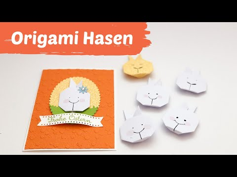 Osterhasen falten--Origami Hasen basteln aus Papier--Osterbasteln mit Kindern-DIY #wirbleibenzuhause