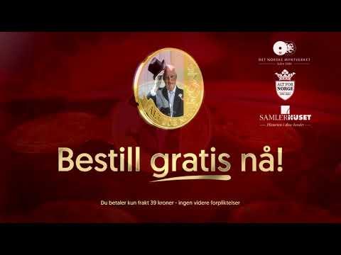 Offisiell jubileumsmedalje hedrer Kong Harald V 30 år som konge!