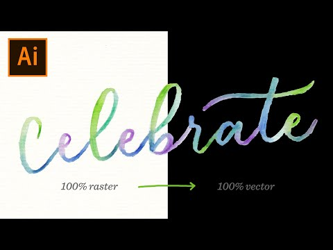 How to Vectorize Watercolor Lettering
