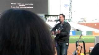 Giants Fellowship Day pt 1 (2010) - Jonny Diaz sings I Can See You