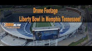 Drone Footage:Liberty Bowl In Memphis Tennessee