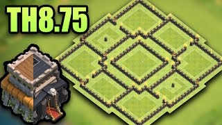 TH8.75 (Town Hall 8.5) Best Farming Base 2017   (TH9 No xbow)   Clash Of Clans
