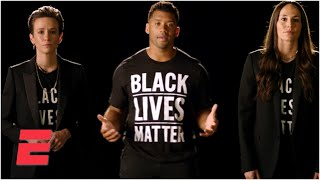 Russell Wilson, Megan Rapinoe and Sue Bird call for unity against racial injustice | 2020 ESPYS