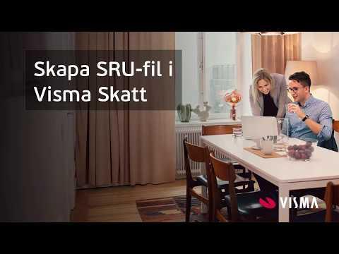 Skapa SRU-fil i Visma Skatt