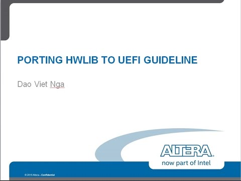 UEFI HwLib Porting Part2