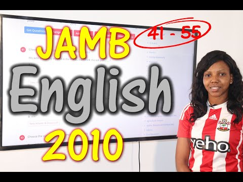 JAMB CBT English 2010 Past Questions 41 - 55