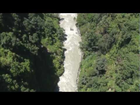 World's highest canyon swing: Tibet border, Nepal