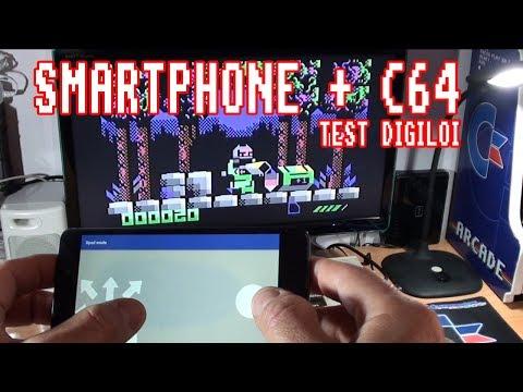 Jugando a Digiloi con el smartphone en el C64