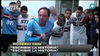 Rogério Ceni animando al Sao Paulo Copa Libertadores 2013