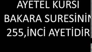 Ayetel Kürsi Suresi Ve Türkçe Meali