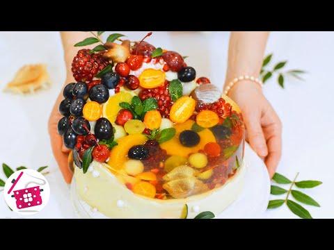ОСТОРОЖНО! Можно ЗАЛИПНУТЬ😍 ТРЕНД 2020-2021 ПРОЗРАЧНЫЙ Торт с фруктами ФРУКТОВЫЙ ОСТРОВ Готовим Дома