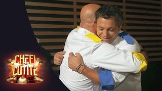 Chef Sorin Bontea și Chef Cătălin Scărlătescu s-au împăcat în culisele emisiunii