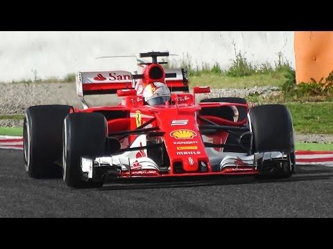 Ferrari SF70H F1 2017 Sound – Vettel  Räikkönen Testing in Spain