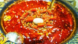 EXTREME SPICY CHINESE FOOD CHALLENGE in SICHUAN, China   DEATH LEVEL SPICY HOT POT CHALLENGE!!! width=