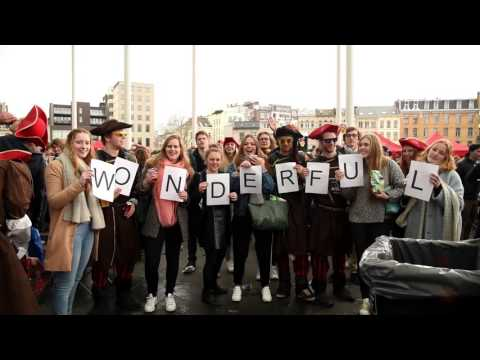 Laatstejaars maken leuk promofilmpje voor Antwerpen