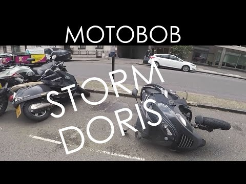 STORM DORIS Damages Motorcycles & Scooters In Central London