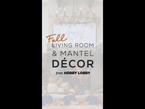 Fall Living Room & Mantel Decor