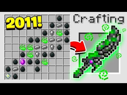 HOW TO CRAFT the WORLD'S OLDEST MINECRAFT SWORD! (Minecraft 1.13 Crafting Recipe)