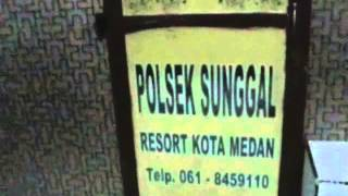 VIDIO OKNUM POLISI AROGAN POLSEK SUNGGAL SUMUT