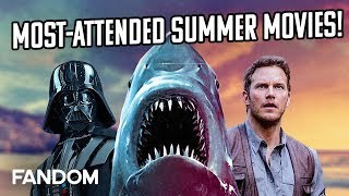 10 Most Popular Summer Movies Ever | Charting with Dan!