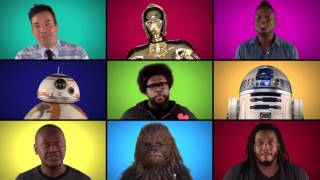 Jimmy Fallon, The Roots, Star Wars  The Force Awakens Cast Sing Star Wars, Medley A Cappella