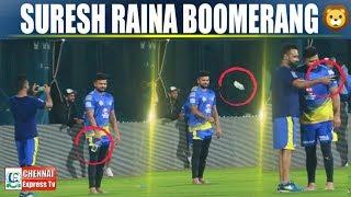 VIDEO : Chinna THALA Raina boomerang Video  | Raina boomerang  | IPL 2019 | Chennai Express