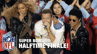 Coldplay, Beyoncé & Bruno Mars Epic Ending to the Pepsi Super Bowl 50 Halftime Show | NFL