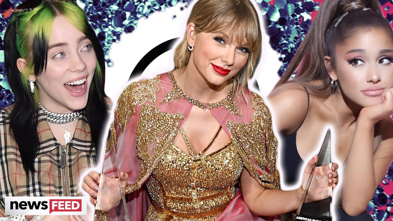 Taylor Swift beats out Ariana Grande & Billie Eilish at The American Music Awards!