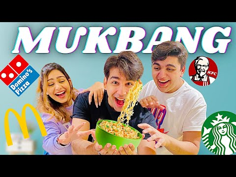 MY FIRST MUKBANG WITH MY BROTHER & SISTER | Rimorav Vlogs