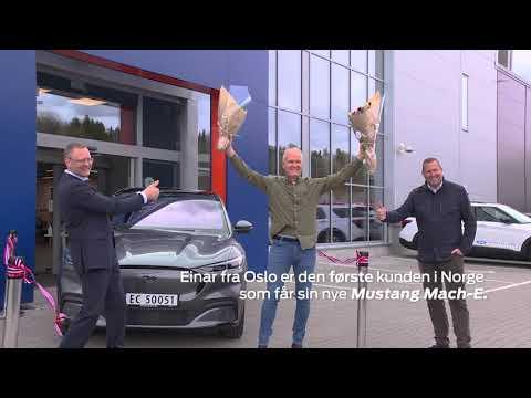 Første kundelevering av Mustang Mach-E i Norge| Ford Norge
