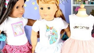 Unicorn Doll Clothes   American Girl Doll Unicorn Outfits GIVEAWAY