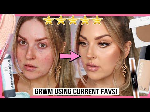 GRWM using my CURRENT BEAUTY FAVORITES! ? full face of stuff you need