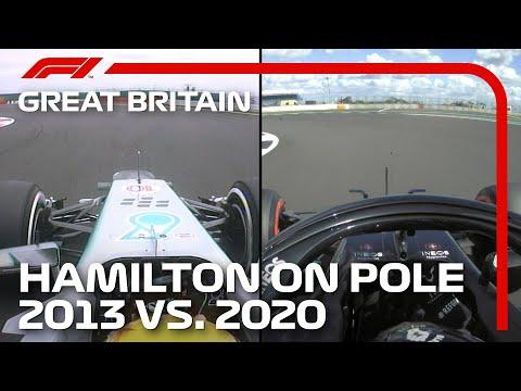 Lewis Hamilton's Qualifying Laps 2013 and 2020 Compared | 2020 British Grand Prix