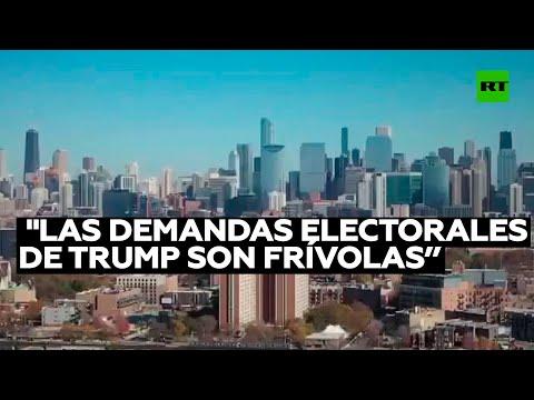 Politólogo: «Las demandas electorales de Trump son frívolas y no tienen peso político ni legal»
