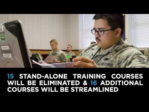 Air Force Now: Reducing Ancillary and Computer Based Training