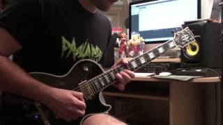 Iced Earth Watching Over Me Guitar Solo Cover   Nik Sampson